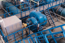 Pumping stations for Zahmet-Turkmengala channel (Turkmenistan)